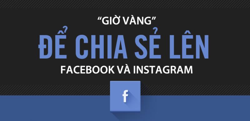 Giờ vàng chia sẻ lên Facebook và Instagram
